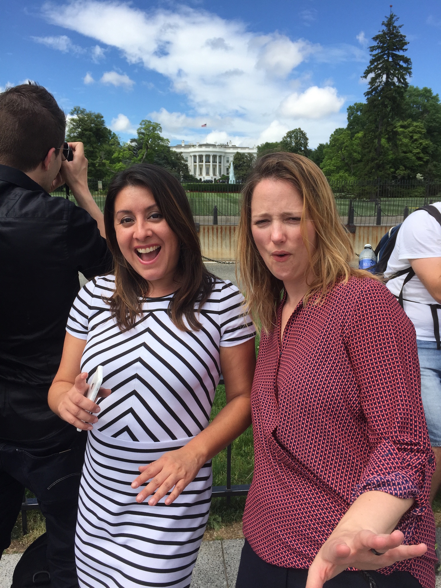 Luz Rivas and Tara Tiger Brown at White House
