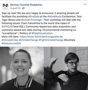 Berliner Gazette More World Conference - Tara Brown