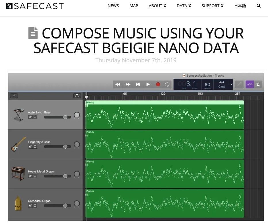 Compose Music Using Your Safecast bGeigie Nano Data